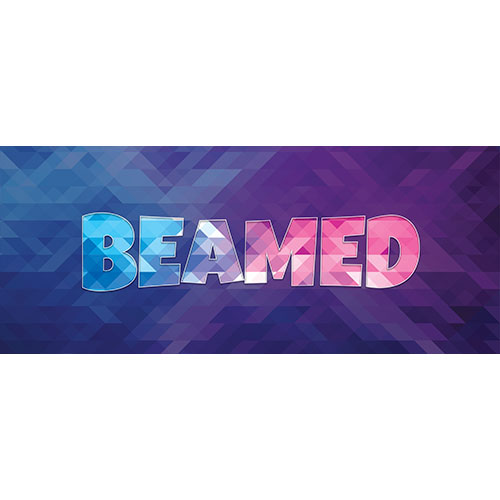 Beamed Home Screen Background PVC Party Sign Decoration 60cm x 25cm