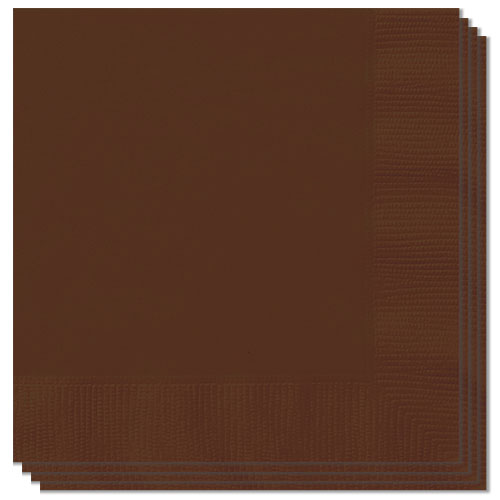 Brown Luncheon Napkins 33cm 2Ply - Pack of 20