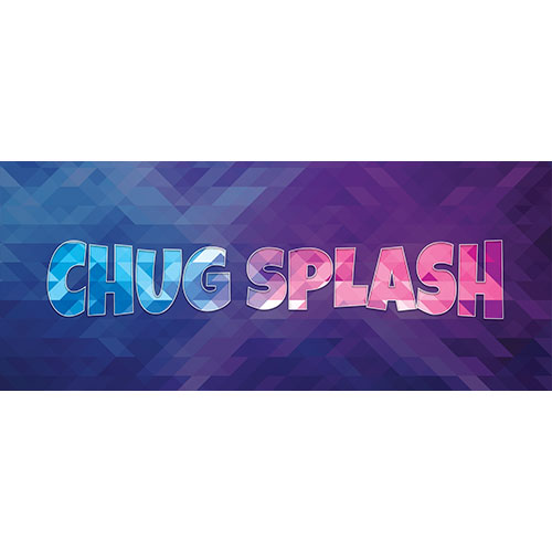 Chug Splash Home Screen Background PVC Party Sign Decoration 60cm x 25cm
