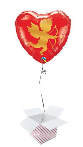 Cupid Valentine's Day Foil Helium Qualatex Balloon - Inflated Balloon in a Box Product Gallery Image