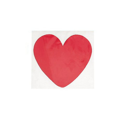 Double-sided Plain Red Hearts Decorative Cutouts - 5 Inches / 12cm - Pack of 10