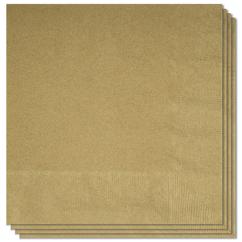 Gold Luncheon Napkins 33cm 2Ply - Pack of 20 Bundle Product Image