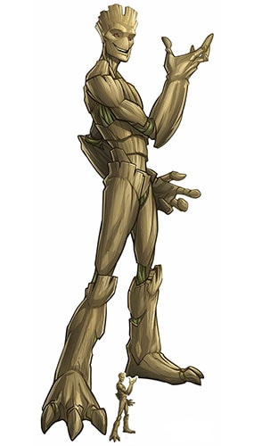 Groot Guardians of the Galaxy Lifesize Cardboard Cutout 195cm