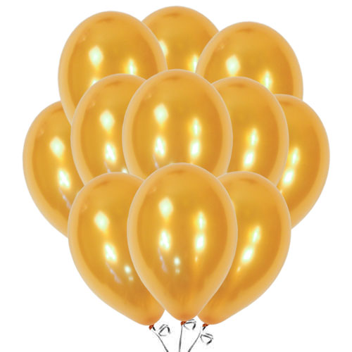 Metallic Gold Biodegradable Latex Balloons 30cm / 12 in - Pack of 50 Product Image