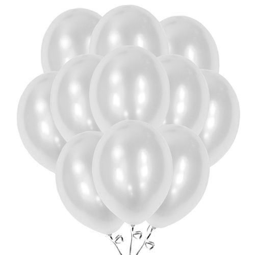 Metallic Silver Biodegradable Latex Balloons 30cm / 12 in - Pack of 50