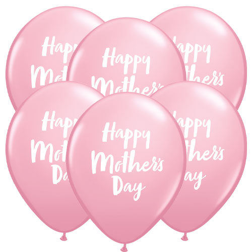 Mother's Day Script Latex Qualatex Balloons 28cm / 11 in - Pack of 6