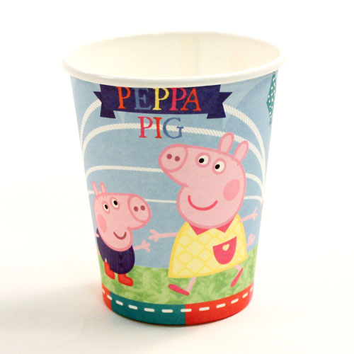 Peppa Pig Blue Paper Cups 260ml - Pack of 8