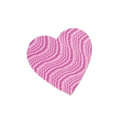 Pink Embossed Foil Heart Decorative Cutout - 9 Inches / 23cm
