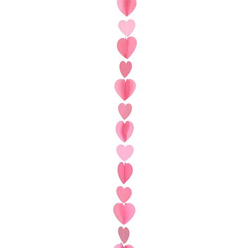 Valentine's Day Pink Hearts Balloon Tail 125cm Product Gallery Image
