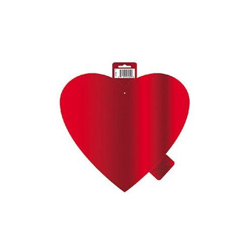 Red Foil Heart Decorative Cutout - 12 Inches / 30cm