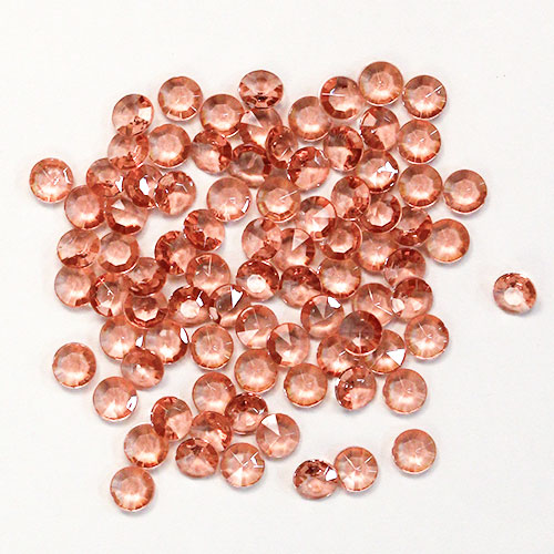 Rose Gold 12mm Round Diamonds Premium Table Gems 28g