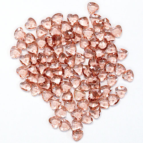 Rose Gold 12mm Heart Diamonds Premium Table Gems 28g