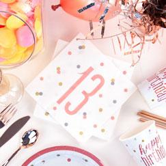 Rose Gold Glitz 13th Birthday Party Supplies