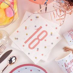 Rose Gold Glitz 18th Birthday Party Supplies