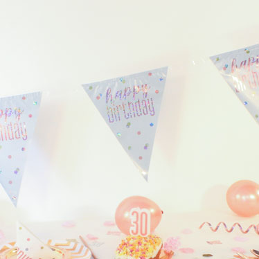 Rose Gold Banners & Bunting