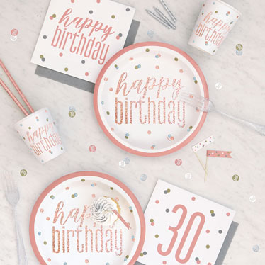 Rose Gold Milestone Birthdays