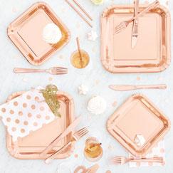 Rose Gold Plain Tableware