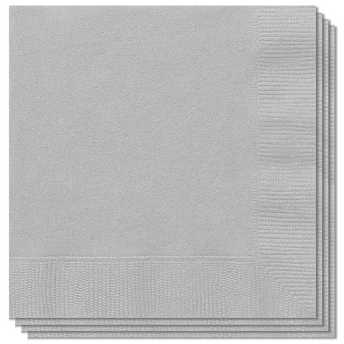 Silver Luncheon Napkins 33cm 2Ply - Pack of 20 Bundle Product Image
