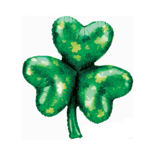 St. Patrick's Day Shamrock Supershape Helium Foil Balloon 84cm / 33 in