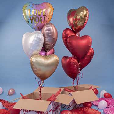 Valentines Day Balloon Bouquet In A Box