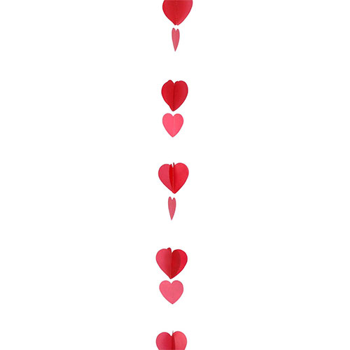 Valentine's Day Assorted Red Hearts Balloon Tail 125cm Product Gallery Image
