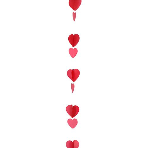 Valentine's Day Assorted Red Hearts Balloon Tail 125cm Gallery Image