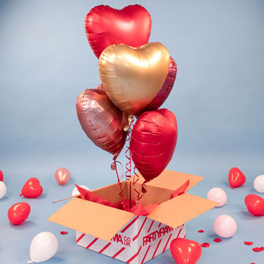 Valentines Day Plain Colour Balloon In A Box