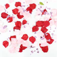 Fabric Rose Petal Confetti