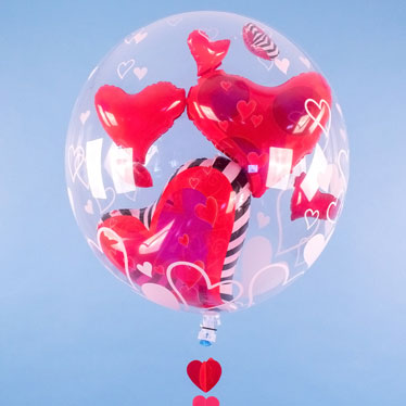 Valentines Day Single Balloon In A Box