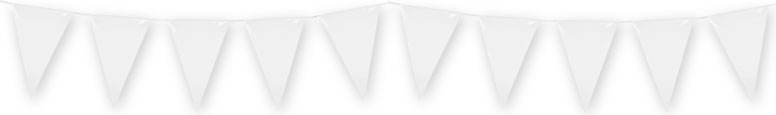 White Plastic Pennant Bunting 10m