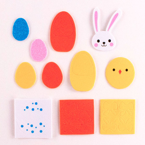 Arts & Crafts Easter EVA Foam Stickers - Pack of 60