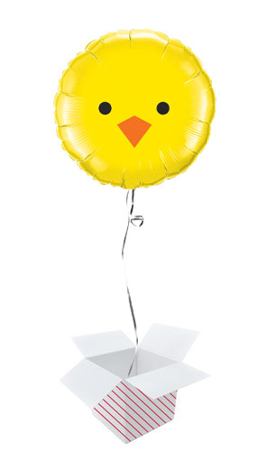 Baby Chick Easter Foil Helium Qualatex Balloon - Inflated Balloon in a Box