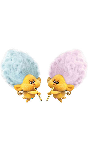 Blue And Pink Cherubs Trolls World Tour Star Mini Cardboard Cutout 61cm Product Gallery Image