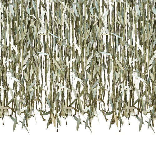 Botanical Willow Leaf Ribbon Backdrop 100m Product Gallery Image