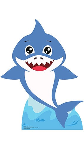 Boy Baby Shark Star Mini Cardboard Cutout 93cm Product Gallery Image