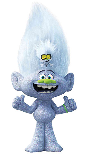 Diamond Guy With Tiny Diamond Trolls World Tour Star Mini Cardboard Cutout 91cm Product Gallery Image