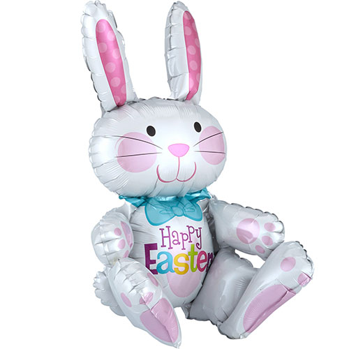 Easter Sitting Bunny Air Fill Foil Balloon 60cm
