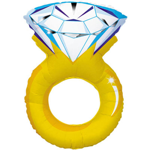 Engagement Ring Helium Foil Giant Balloon 94cm / 37 in