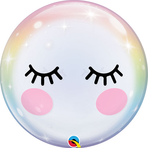 Eyelashes Bubble Helium Qualatex Balloon 56cm / 22 in