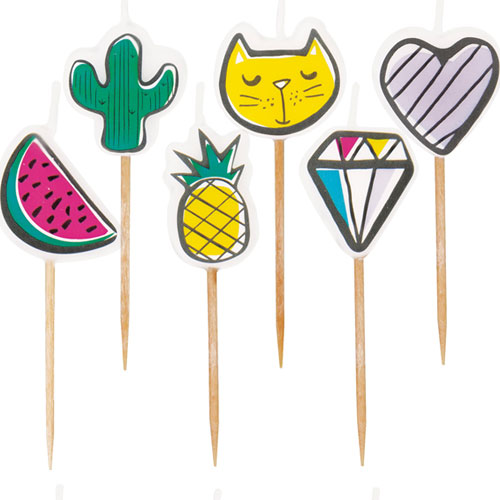 Favourite Things Pick Birthday Candles - Pack of 6