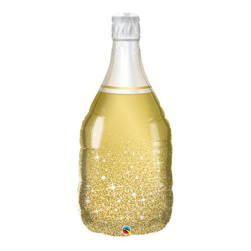 Golden Bubbly Bottle Helium Foil Giant Qualatex Balloon 99cm / 39 in
