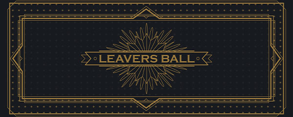 Golden Leavers Ball PVC Party Sign Decoration 60cm x 25cm