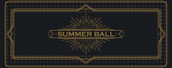 Golden Summer Ball PVC Party Sign Decoration 60cm x 25cm