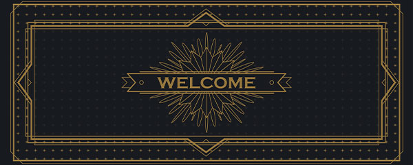 Golden Welcome PVC Party Sign Decoration 60cm x 25cm