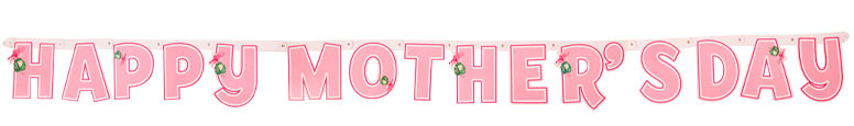 Happy Mother's Day Cardboard Jointed Letter Banner 180cm