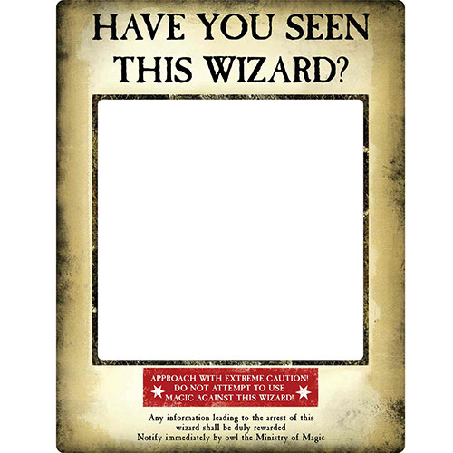 Harry Potter Wanted Poster Have You Seen This Wizard Cardboard Golden Selfie Frame With Props 87cm Product Gallery Image
