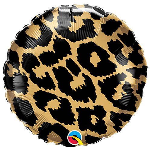 Leopard Spots Pattern Foil Helium Qualatex Balloon 46cm / 18 in