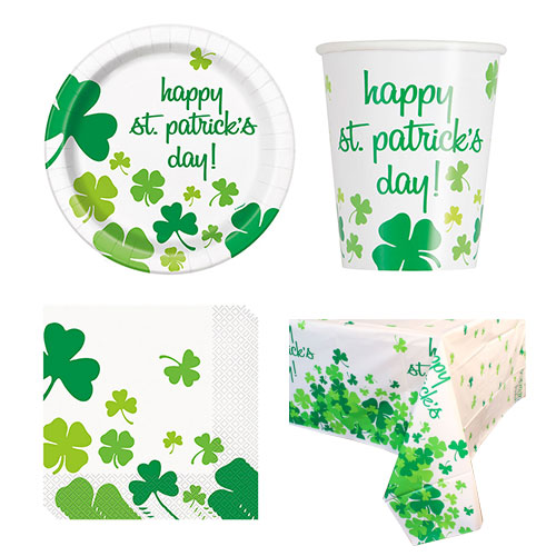 Lucky Shamrock St. Patrick's Day 8 Person Value Party Pack