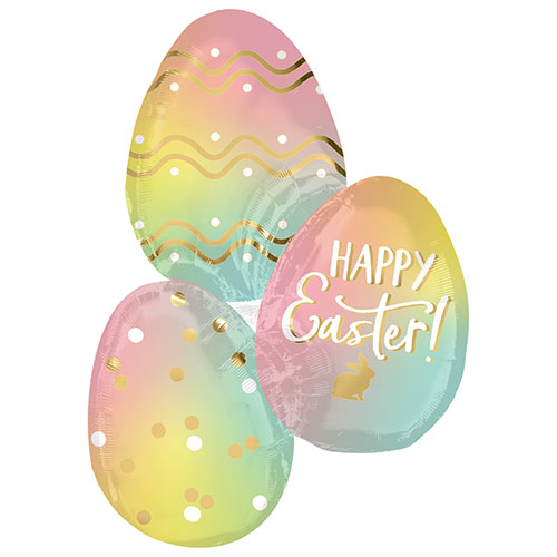 Ombre Easter Eggs Helium Foil Giant Balloon 88cm / 35 in