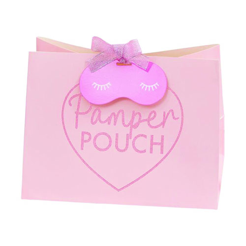 Pink Glitter Pamper Party Pouch Bags - Pack of 5 Gallery Image